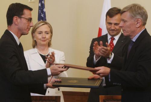 Hillary Clintonová a Radoslaw Sikorski