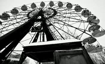 Slavné ruské kolo - symbol města duchů