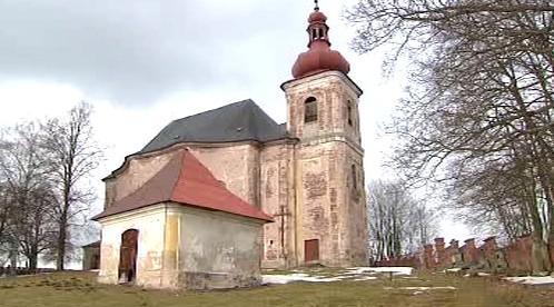 Kostel na Broumovsku