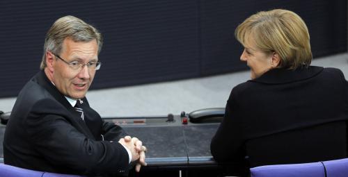 Christian Wulff a Angela Merkelová