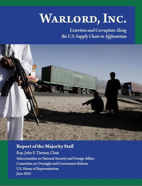 Kongresová zpráva o korupci v Afghánistánu