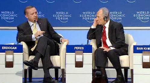Recep Tayyip Erdogan a Šimon Peres