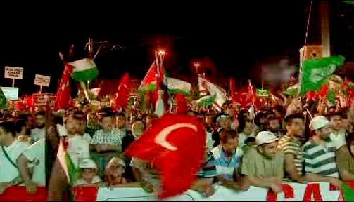 Protiizraelské demonstrace v Turecku