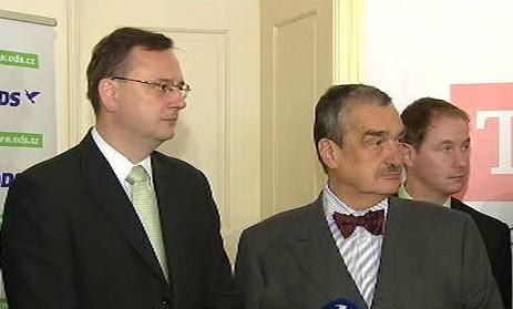Petr Nečas, Karel Schwarzenberg a Petr Gazdík