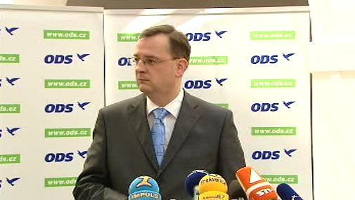Nový premiér Petr Nečas