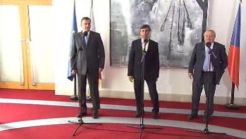 Petr Nečas, Jan Fischer a Eduard Janota