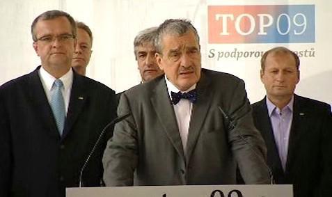 Tisková konference TOP 09