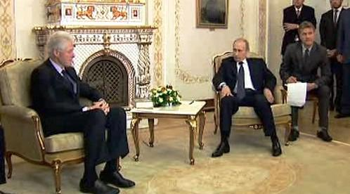 Bill Clinton a Vladimir Putin