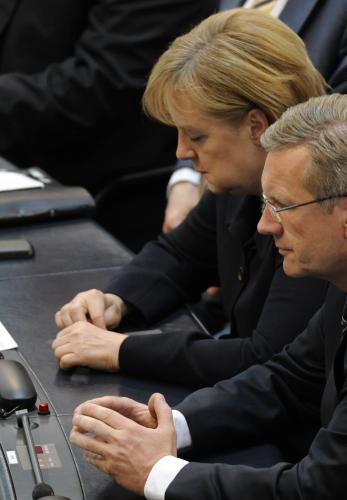 Angela Merkelová a Christian Wulff