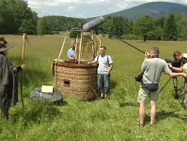 Natáčení Vzduchoplavce Kráčmery