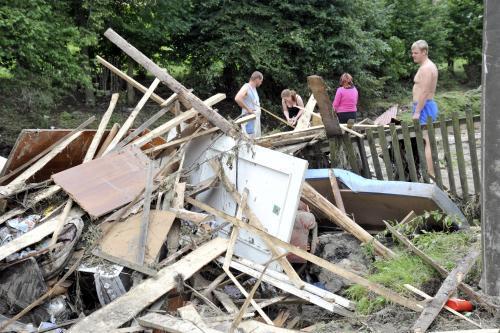 Následky povodní v Benešově nad Ploučnicí