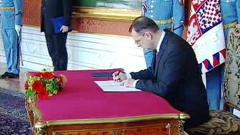 Petr Nečas na Pražském hradě