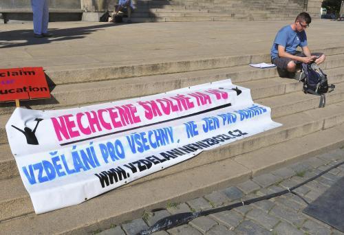 Protest proti zavedení školného
