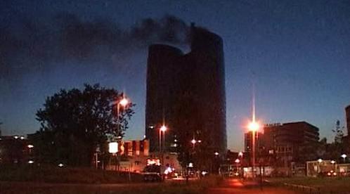Požár v nizozemské bance