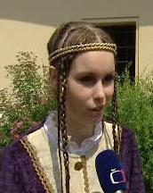 Představitelka královny Alžběta Gilíková