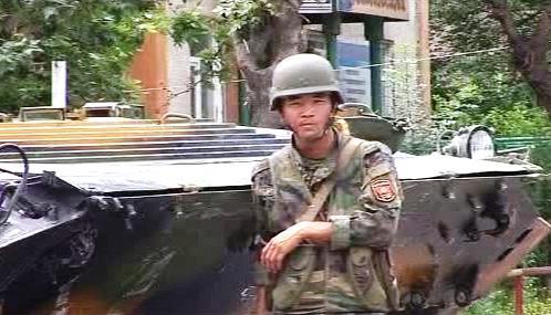 Vojáci v Kyrgyzstánu