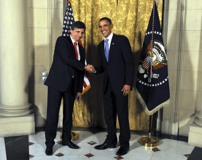 Jan Fischer a Barack Obama