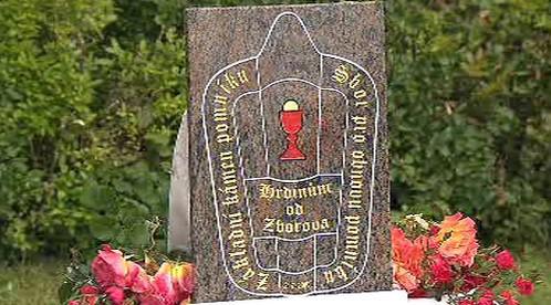 Základní kámen pomníku bitvy u Zborova