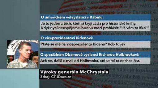 Výroky generála McChrystala