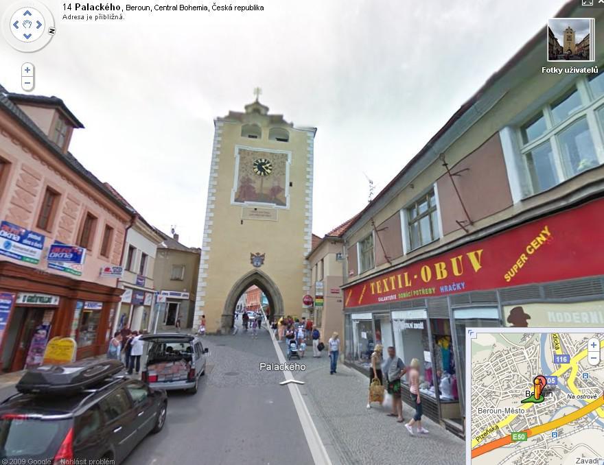 Centrum Berouna v Google Street View