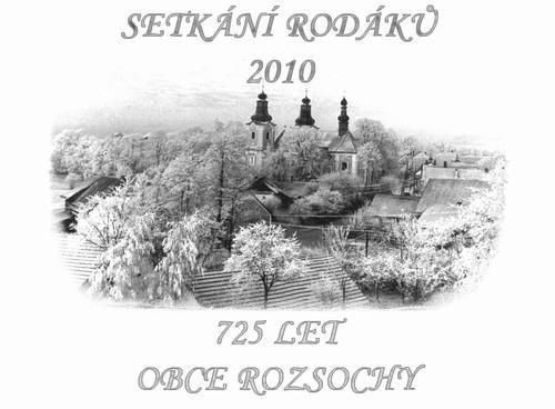 Plakát - 725 let obce Rozsochy