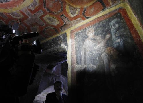 Fresky pocházejí z konce čtvrtého století