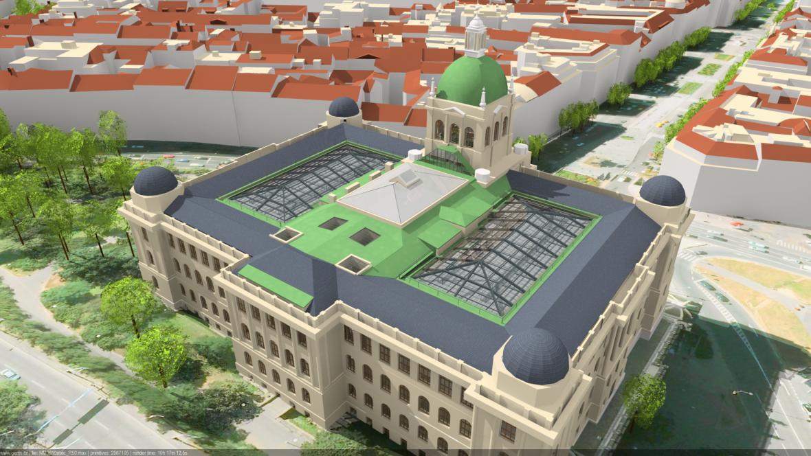 Plánovaná rekonstrukce zastřeší obě dvorany