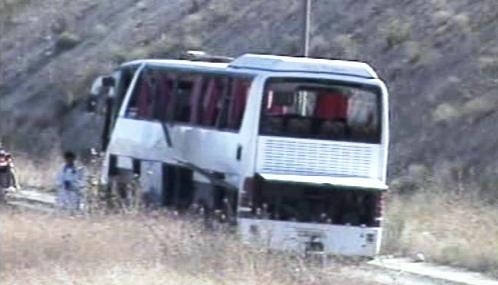 Turecký autobus, který se stal terčem teroristického útoku