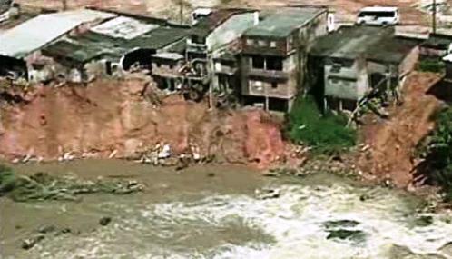 Následky záplav v Brazílii