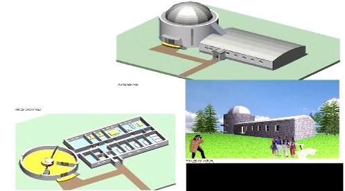 Model budoucí observatoře