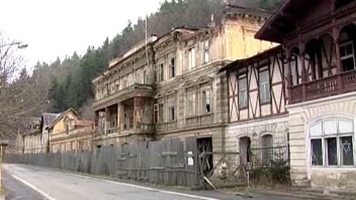 Bývalé lázně v Kyselce
