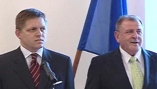 Robert Fico a Vladimír Mečiar