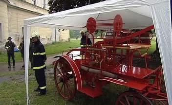 Koňská hasičská stříkačka