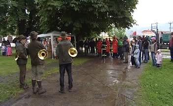 Svěcení hasičské stříkačky ve Velichově