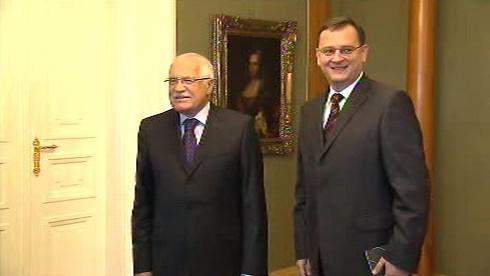 Petr Nečas a Václav Klaus