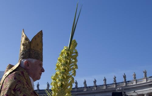 Papež při mši ve Vatikánu