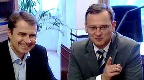 David Vodrážka a Petr Nečas