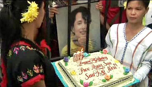 Narozeninový dort pro Su Ťij