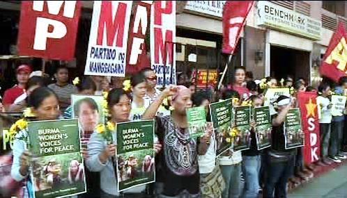 V Manile demonstrovali stoupenci Su Ťij