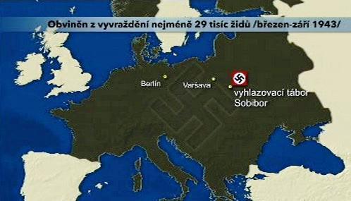 Demjanjuk je obviněn z vyvražďování židů v Sobiboru