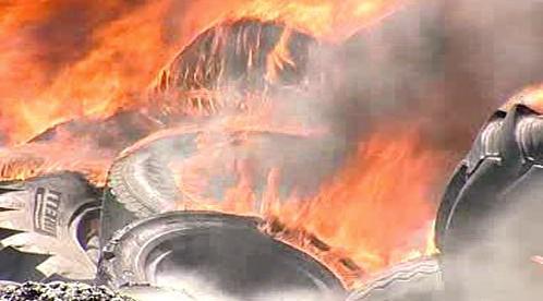 Hořící pneumatiky