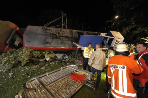 Záchranáři u železniční nehody