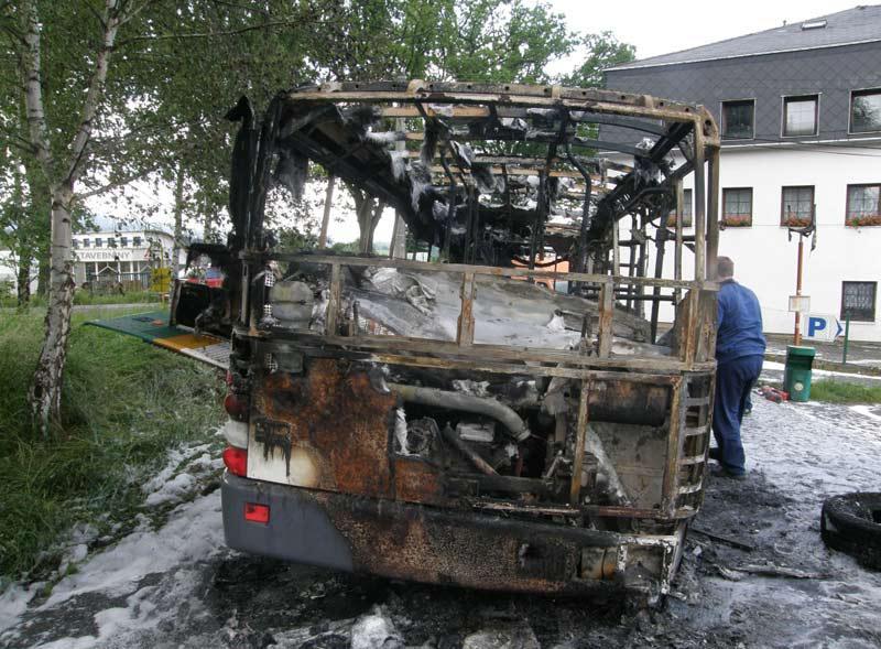 Autobus po požáru