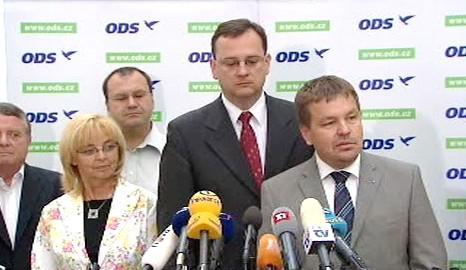 Tisková konference po jednání poslaneckého klubu ODS
