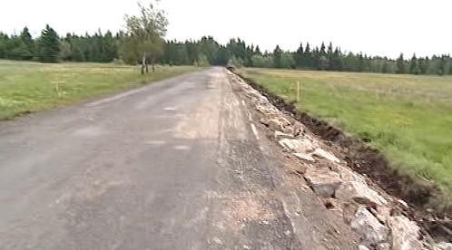 Oprava silnice na Karlovarsku