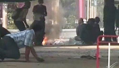 Pouliční boje v Thajsku