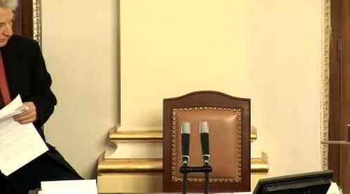 Prázdné místo předsedy sněmovny