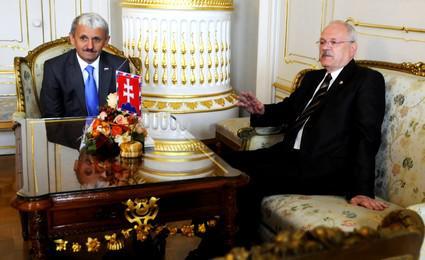 Mikuláš Dzurinda a Ivan Gašparovič