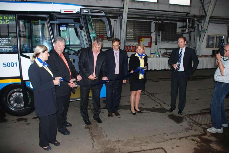 Předání nového elektrobusu