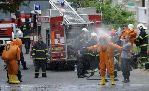 Zásah chemické jednotky v pražských Vokovicích